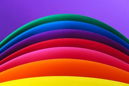 couleur de peinture en arc en ciel